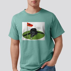 Black Lab Golfer Ash Grey T-Shirt